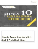 How to Create investor pitch deck | Pitch Deck ideas