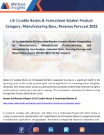 UV Curable Resins & Formulated Market Report 2017-2022: Analysis Of Revenue, Sales, Application