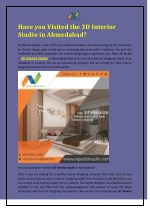 Have you Visited the 3D Interior Studio in Ahmedabad?