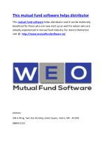 This mutual fund software helps distributor
