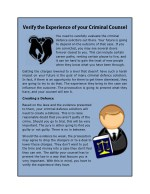 Verify the Experience of your Criminal Counsel