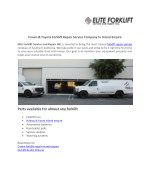 Crown & Toyota Forklift Repair Service Company In Inland Empire