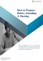 How to Prepare Before Attending a Meeting