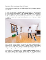 Know more about your tenancy cleaner in London