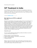 How the Process of IVF is conducted?