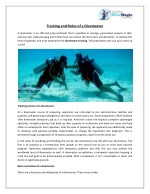 Training and Roles of a Divemaster