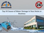 Top 10 Causes of Water Damage in Your Home or Business