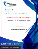Microsoft 70-412 Dumps Questions - Windows Server [70-412] Exam Question