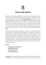 Green wall system