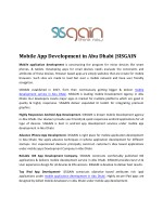 Top Mobile development Agency in Abu Dhabi | SISGAIN