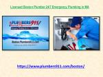 Licensed Boston Plumber 24/7 Emergency Plumbing in MA
