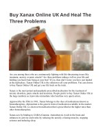 Buy Xanax Online UK And Heal The Three Problems