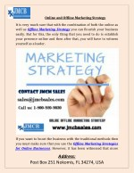 Online and Offline Marketing Strategy