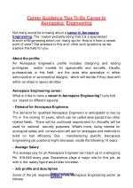 Career Guidance Tips to Do Career in Aerospace Engineering