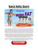 Kara Keto Burn: For Weight Loss | Does It Work Really Work?