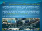 Buy property Premium Office space in greater Noida