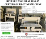 Buy Used 2006 Ideal 4810-95 Cutters/Guillotines Machine