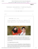 Baba ramdev Patanjali products and price list for shopping online