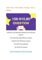 2018 New 156-915.80 CheckPoint PDF 156-915.80 Questions