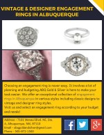 Vintage & Designer Engagement Rings in Albuquerque