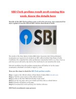 SBI Clerk prelims result 2018 coming this week: Know the details here