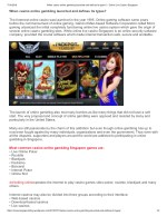 Singapore Online Game