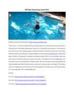 ISR Baby Swimming Lessons