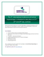 3rd. International Conference of Cortical Implantology