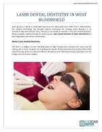 Laser Dental Dentistry In West Boomfield | New Orchard Dentistry