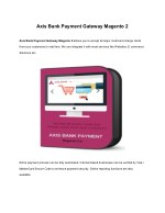Axis Bank Payment Gateway Extension Magento 2