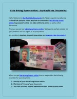 Fake driving license online - Buy Real Fake Documents