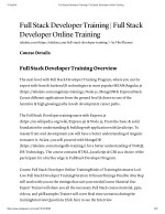 Build Your Career With Full Stack Developer Training At TekSlate