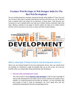 Choose The Freelance Web Developer And Web Designer India For The Best Web Development
