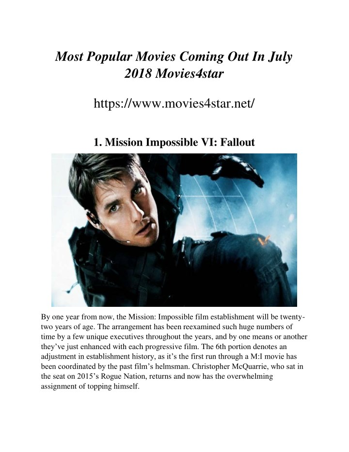 most popular movies coming out in july 2018 n.