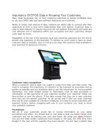 Importance Of EPOS Data in Knowing Your Customers