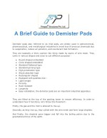 A brief guide to demister pads