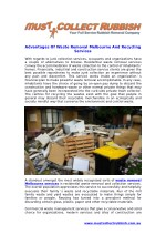 Advantages Of Waste Removal Melbourne And Recycling Services