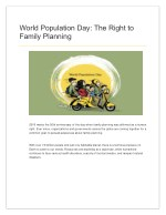 World Population Day: The Right to Family Planning