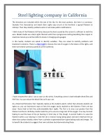 Steel lighting company in California | Steel Lighting Co
