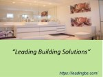 Bathroom renovations melbourne eastern suburbs from leading building solutions