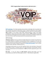 VOIP: Augmenting Communication Infrastructure