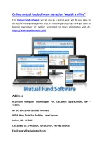 """Online mutual fund software named as """"wealth e office"""""""