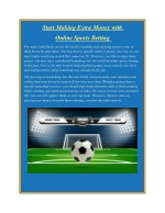 Start Making Extra Money with Online Sports Betting