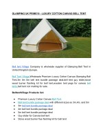 Glamping UK Bell Tent Village Prime18 - Luxury Cotton Canvas Bell Tent