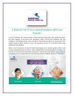 Home Care Tips to Maintain Your Dental Implants