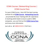 CCNA Courses CCNA Course Fees Networking Courses