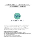 HOW TO SAFEGUARD A BUSINESS WHEN A CO-OWNER GETS DIVORCED