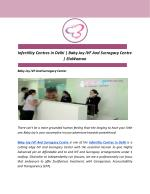 Infertility Centres in Delhi   Baby Joy IVF And Surrogacy Centre   ElaWoman