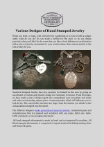 Various Designs of Hand Stamped Jewelry