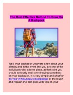 The most Effective method to Draw on a Backpack | Whitsundays backpacker